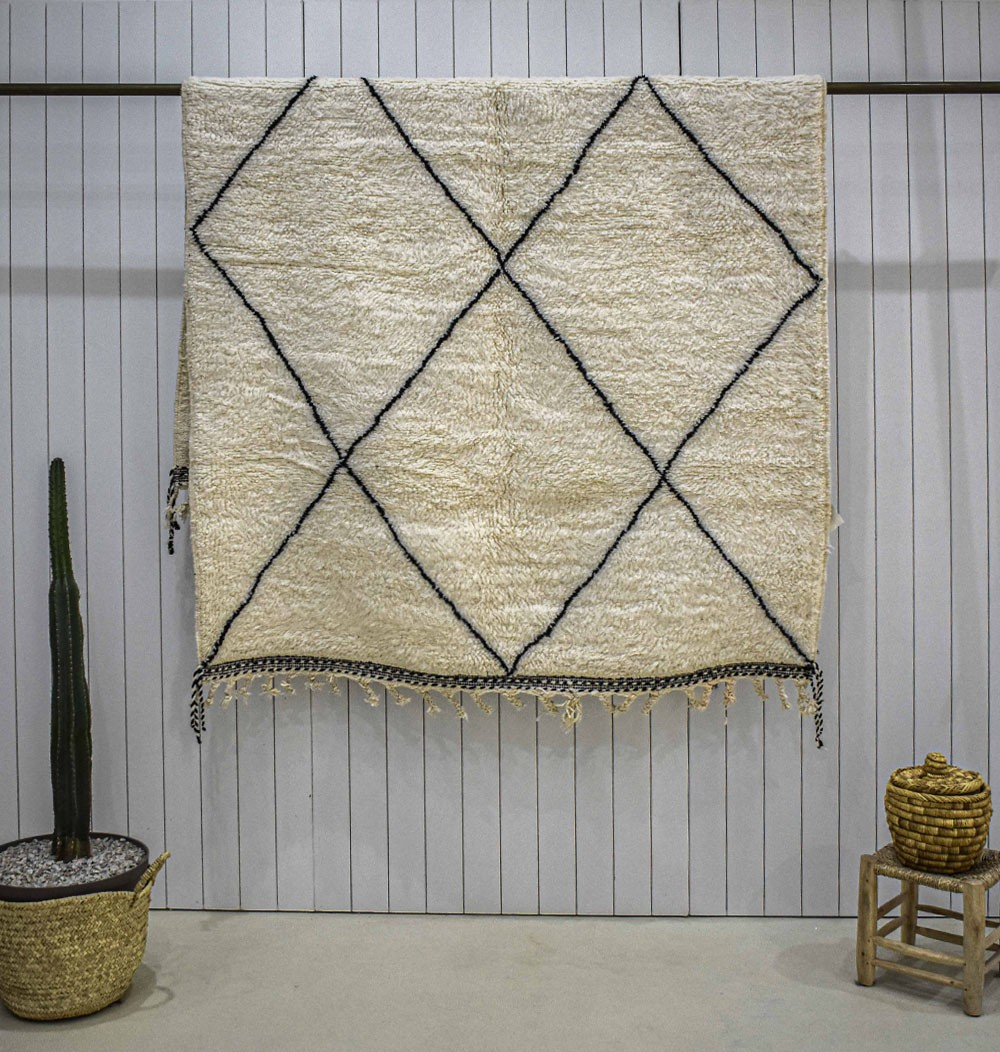 Beni Ouarain carpet large diamonds