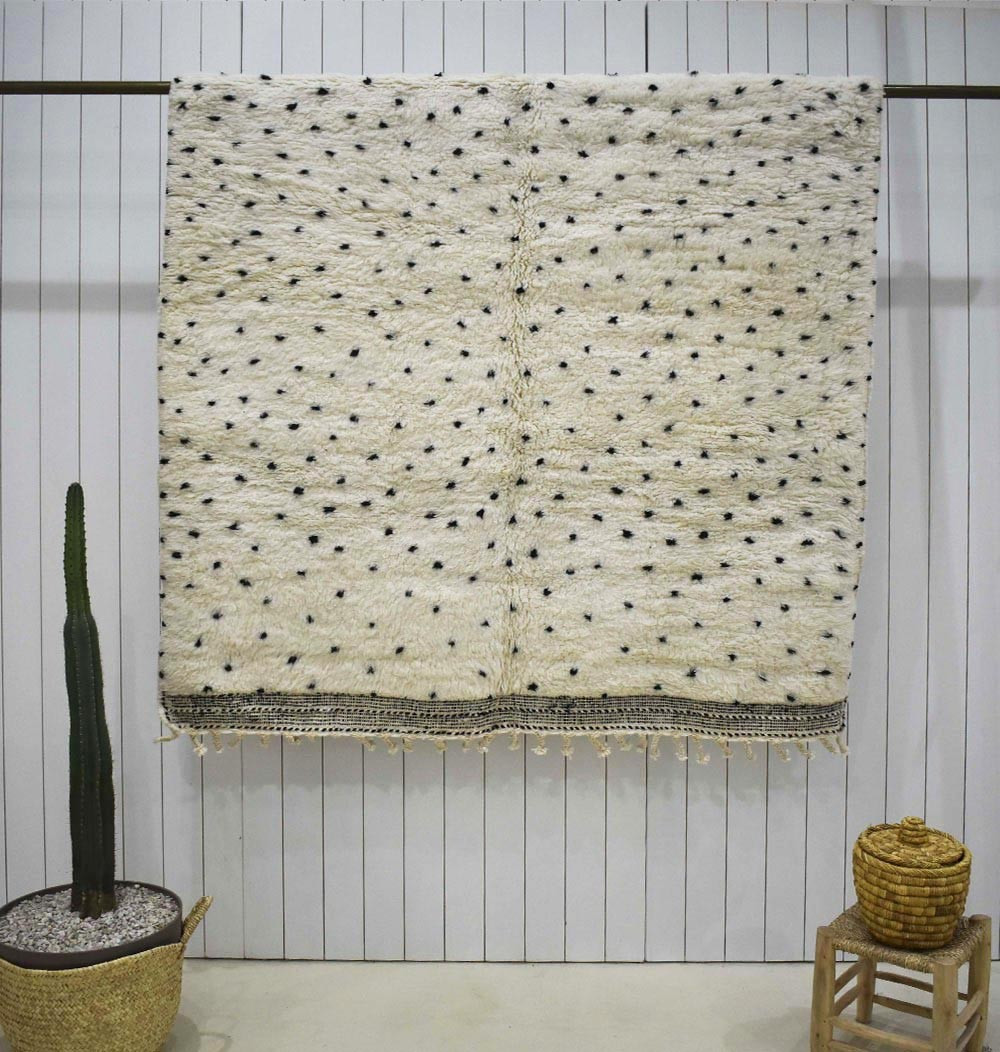 Beni Ouarain rug spaced and larger peas