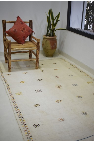 Large Kilim rug beige background