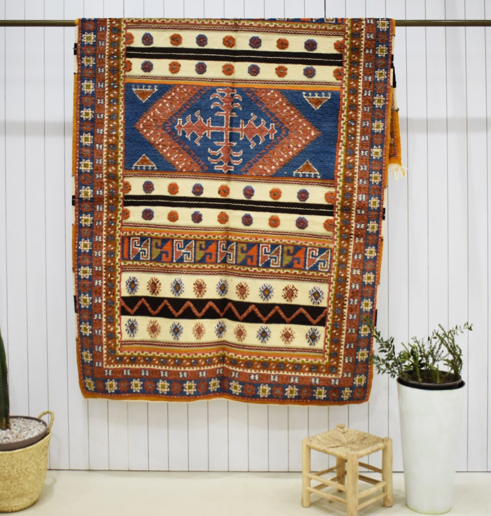Large Vintage Mating Rug