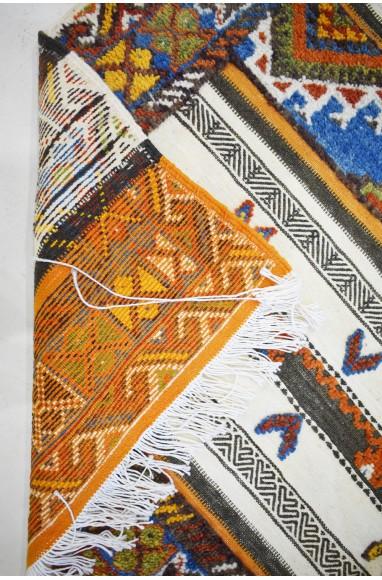 Grand Tapis Vintage Double effet petits motifs