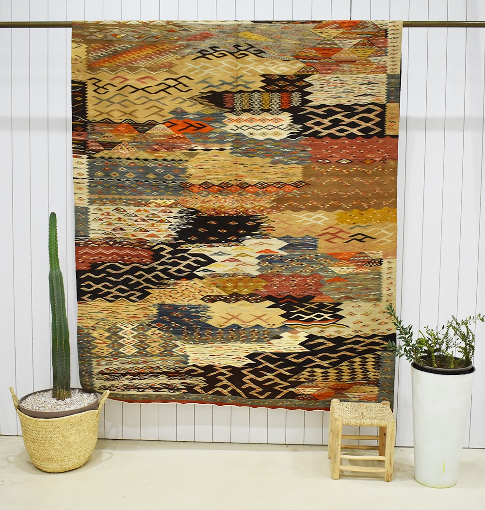 Large Vintage Multitude Rug