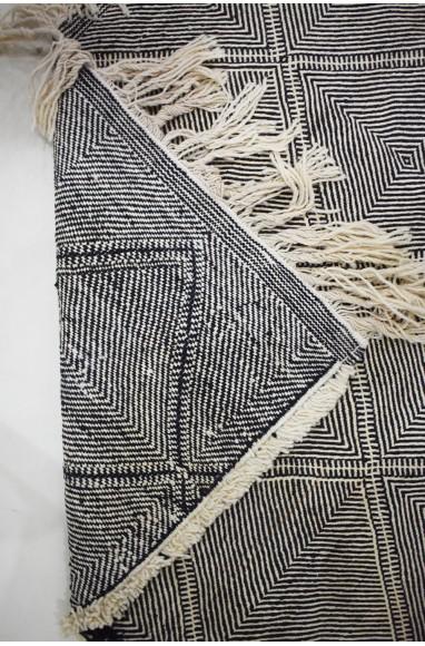 Grand Tapis Vintage Spirales de losanges