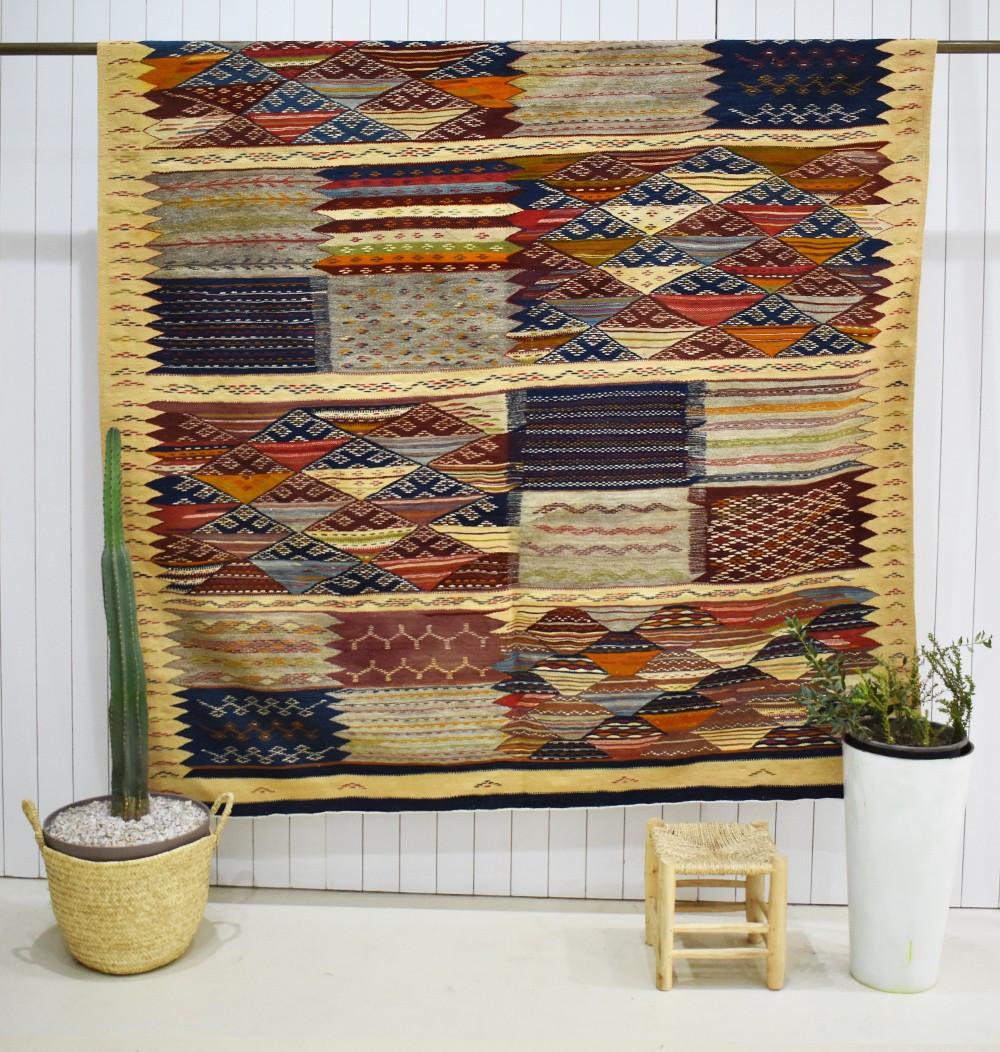 Large Berber Patchwork Carpet
