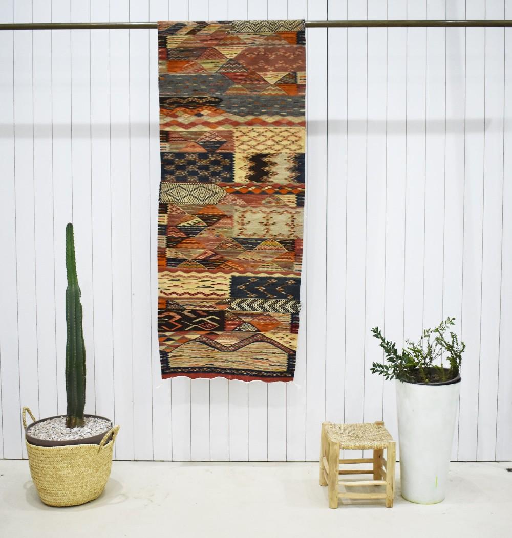Long Berber hallway carpet Graphic design