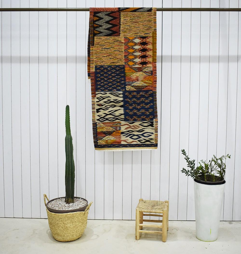 Long Berber Hieroglyphics Hallway Carpet