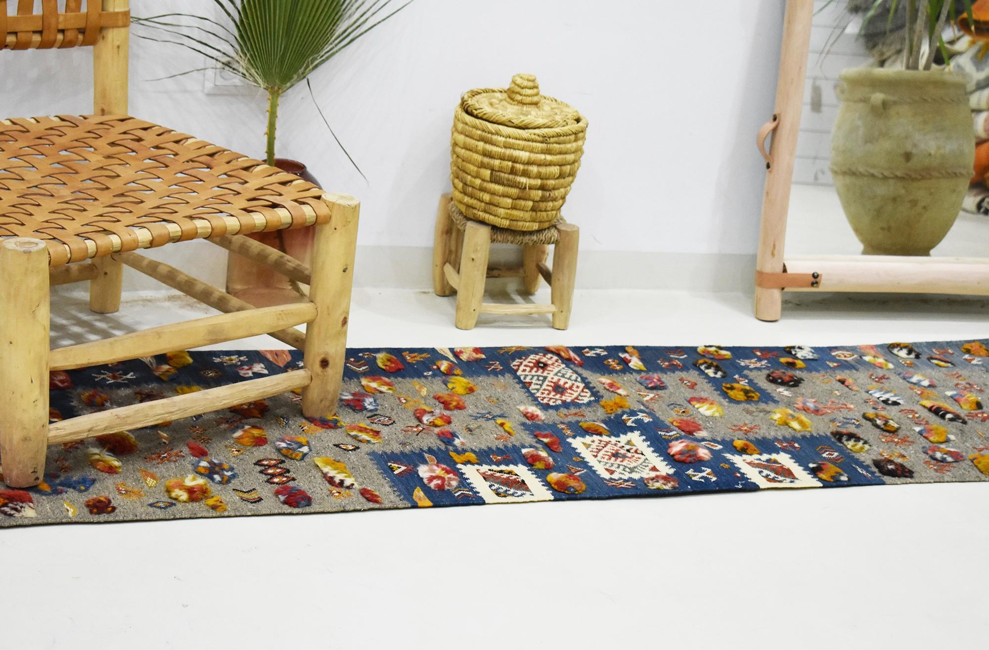 Long Berber hallway carpet Scrap Deco