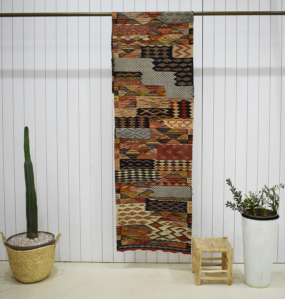 Long Tapis berbère de couloir Mixte Tweed