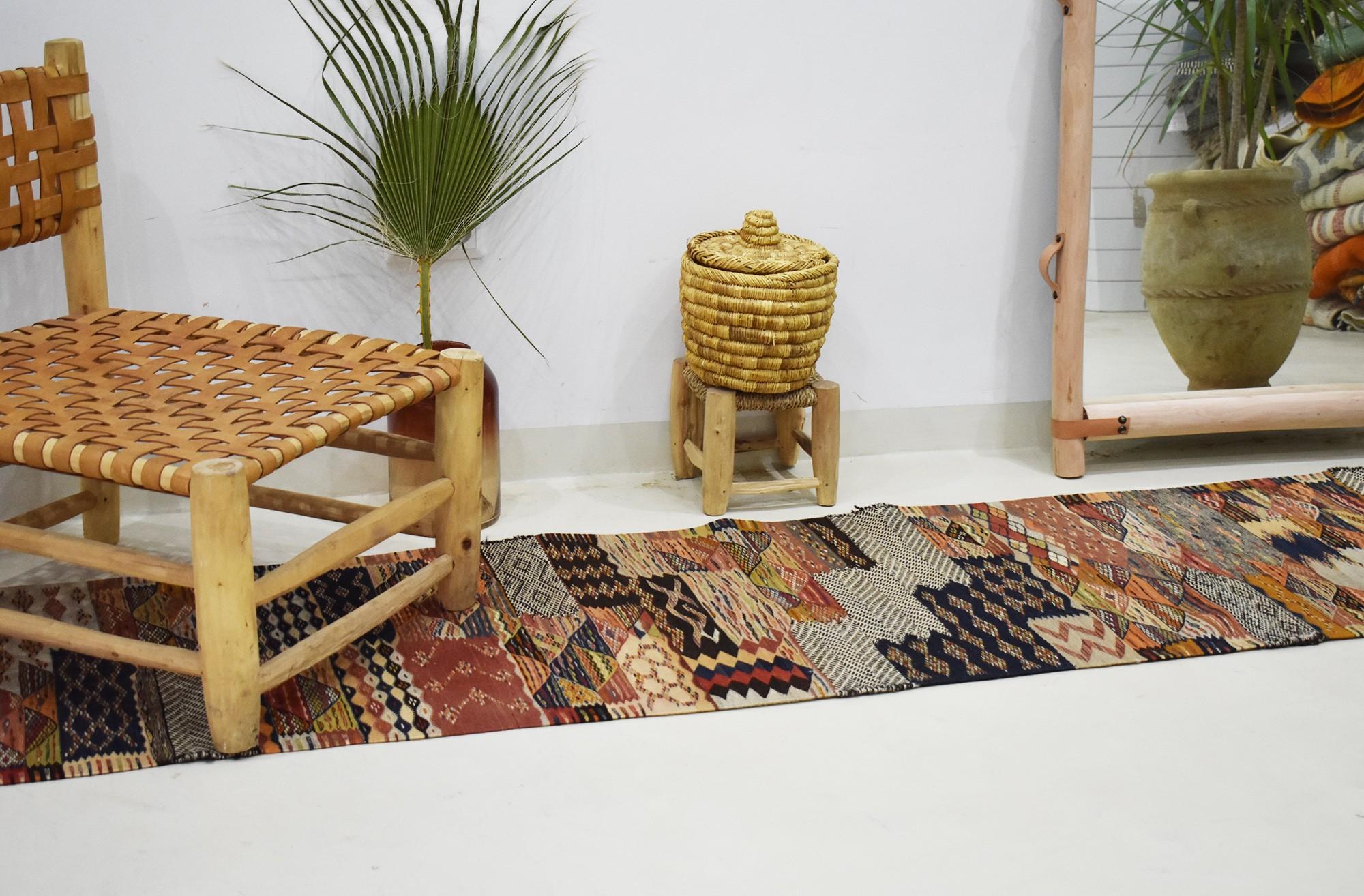 Long Tapis berbère de couloir Mixte Tweed