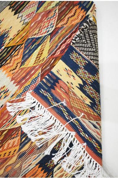 Long Berber Hallway Rug Mixed Tweed