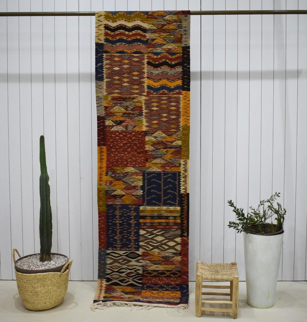 Long Berber Ethnic Hallway Rug