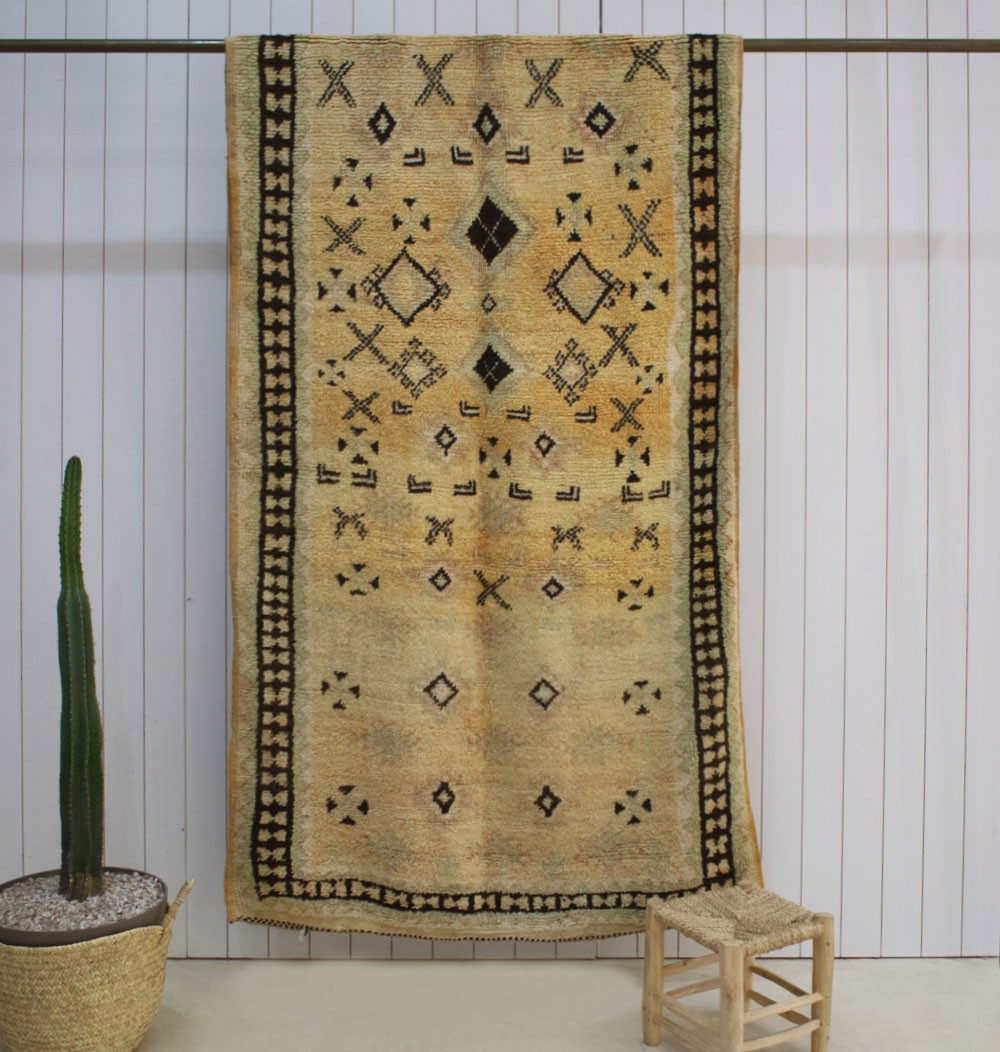 Vintage wheat fields rug