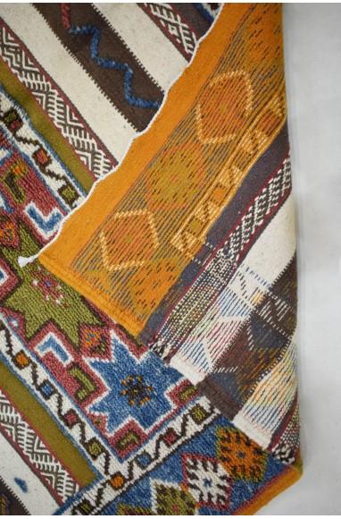 Grand Tapis Vintage Double effet grands motifs