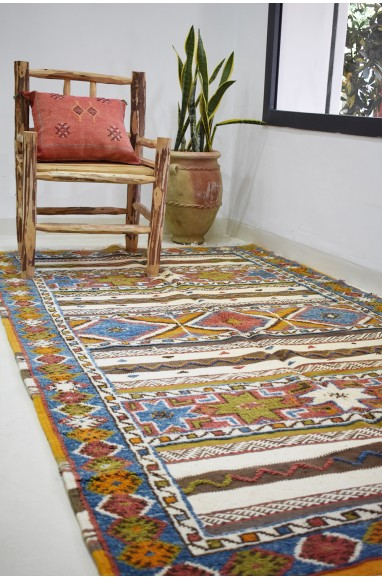 Large Vintage Rug Double effect large patterns