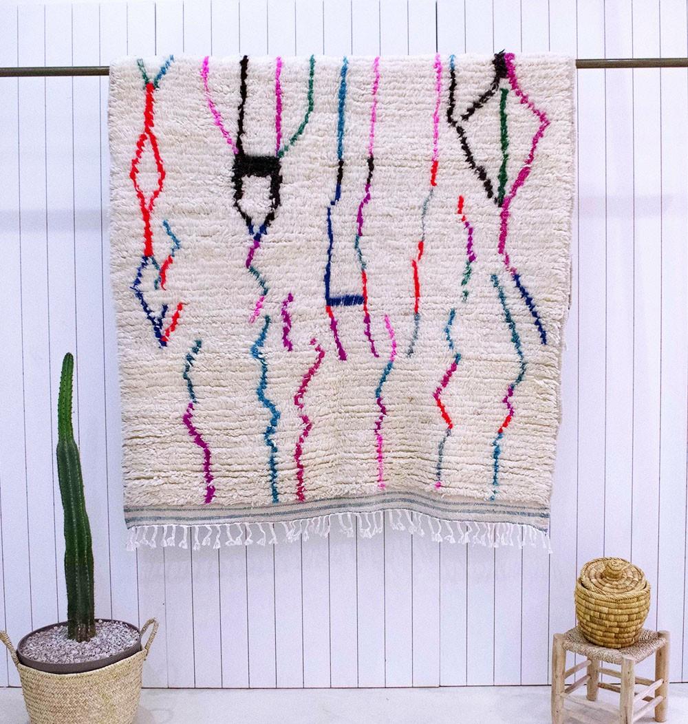 Azilal carpet colorful scribbles