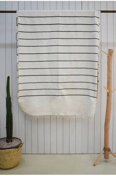 White striped black plaid