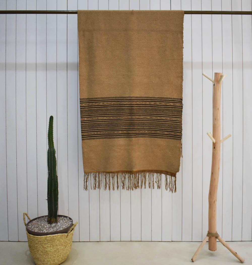 Striped two-tone brown plaid