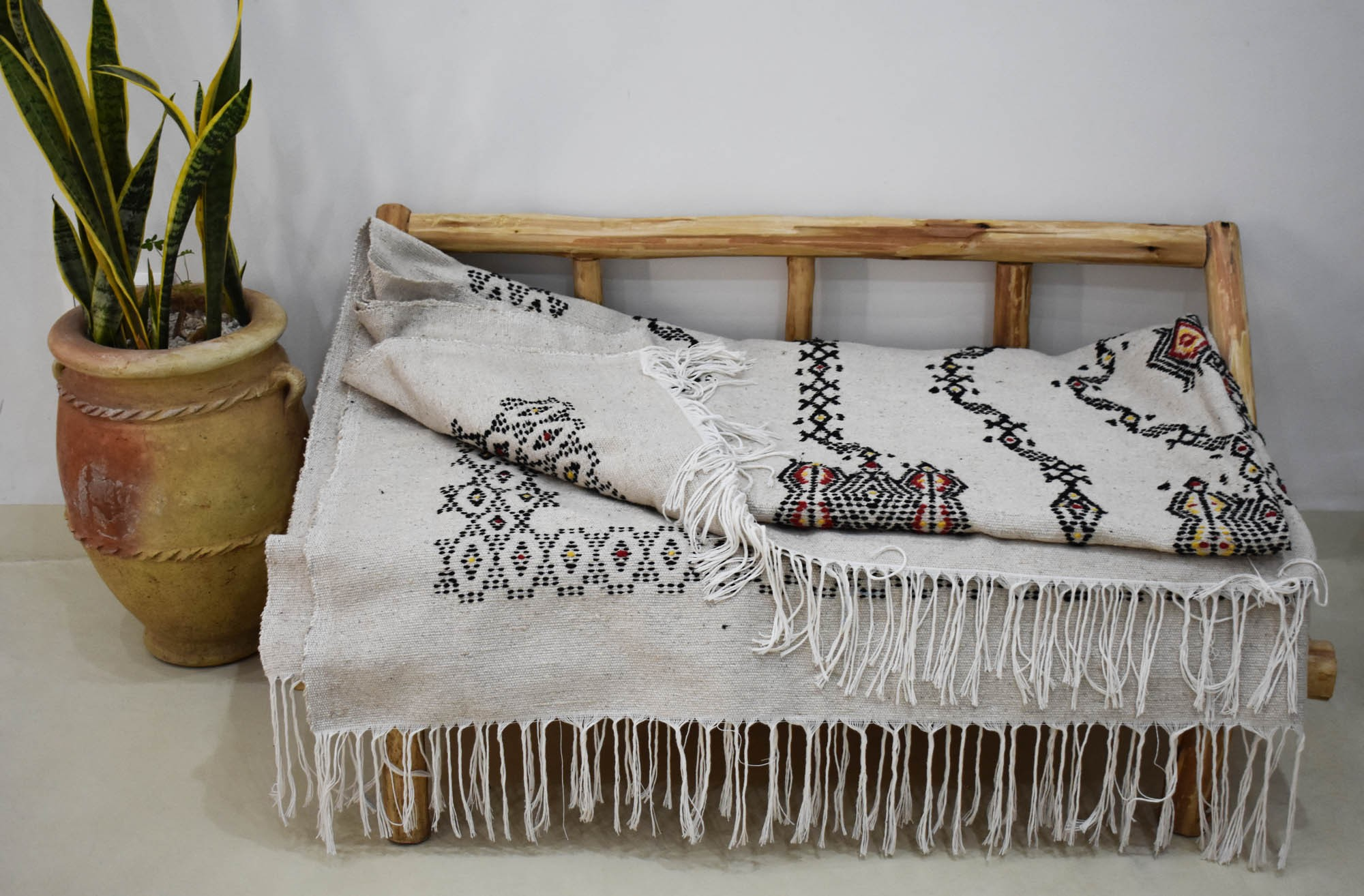 Berber plaid large size beige background