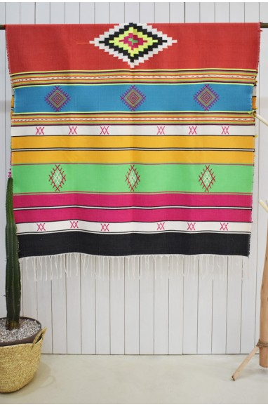 Colorful Mexico allure throw