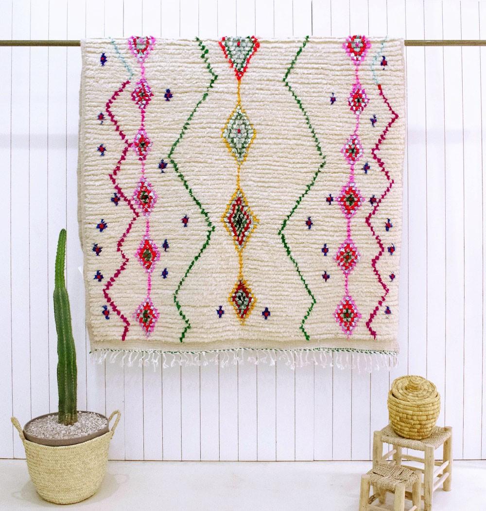Azilal flower garden rug
