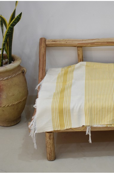 White striped beige and yellow plaid background