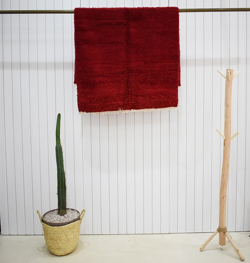 Petit tapis vintage rouge