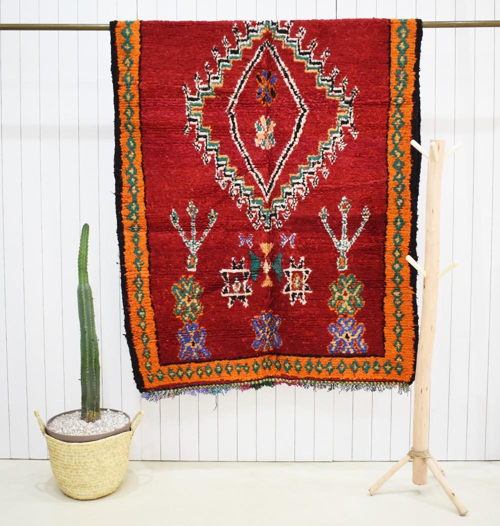 Red vintage carpet berber signs