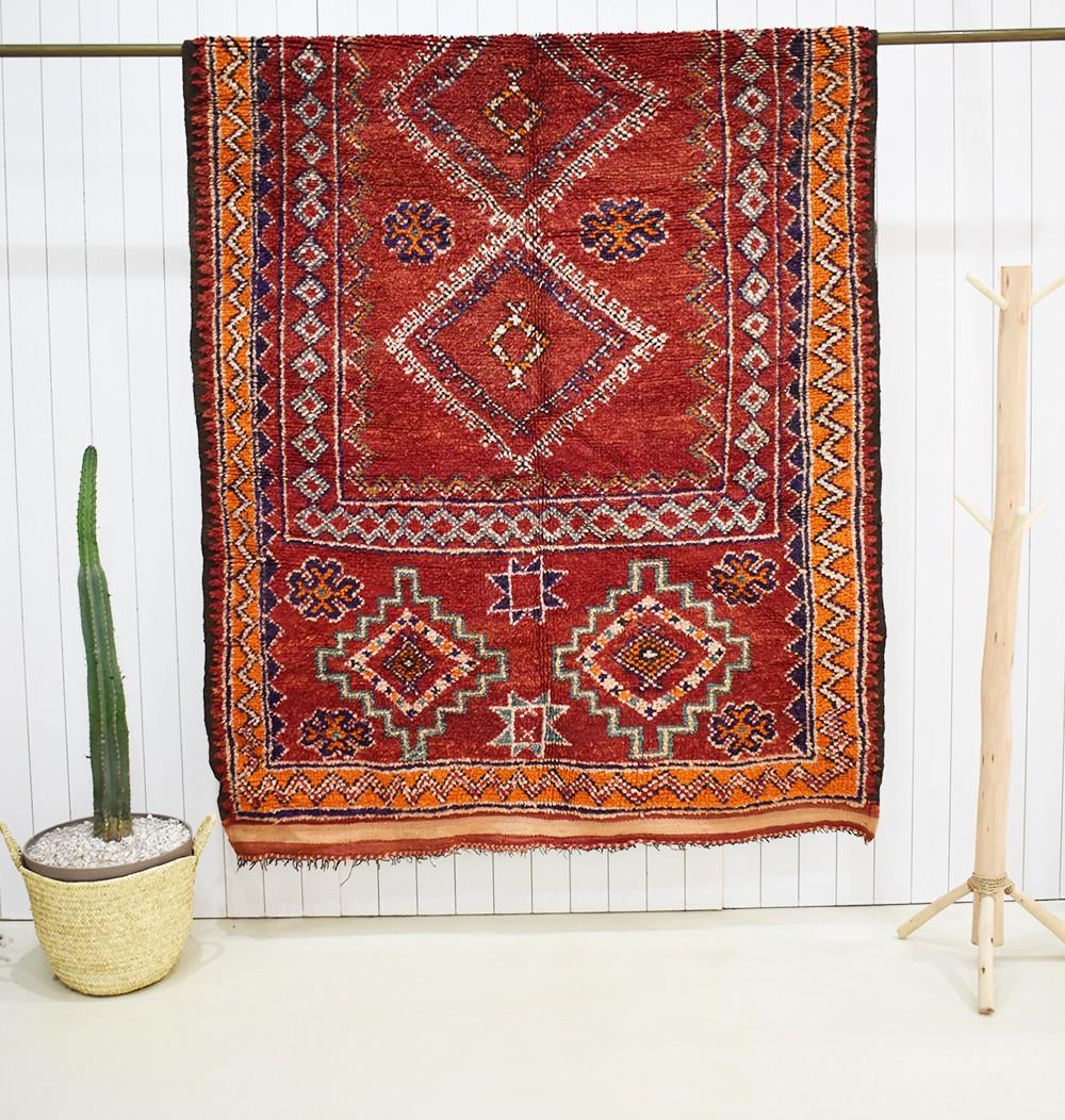 Large Moroccan vintage rug