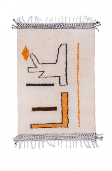 Beni Ouarain carpet 3 colors white black beige
