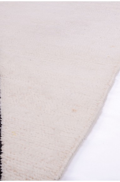 Carpet Beni Ouarain Cerf-Volant white and black