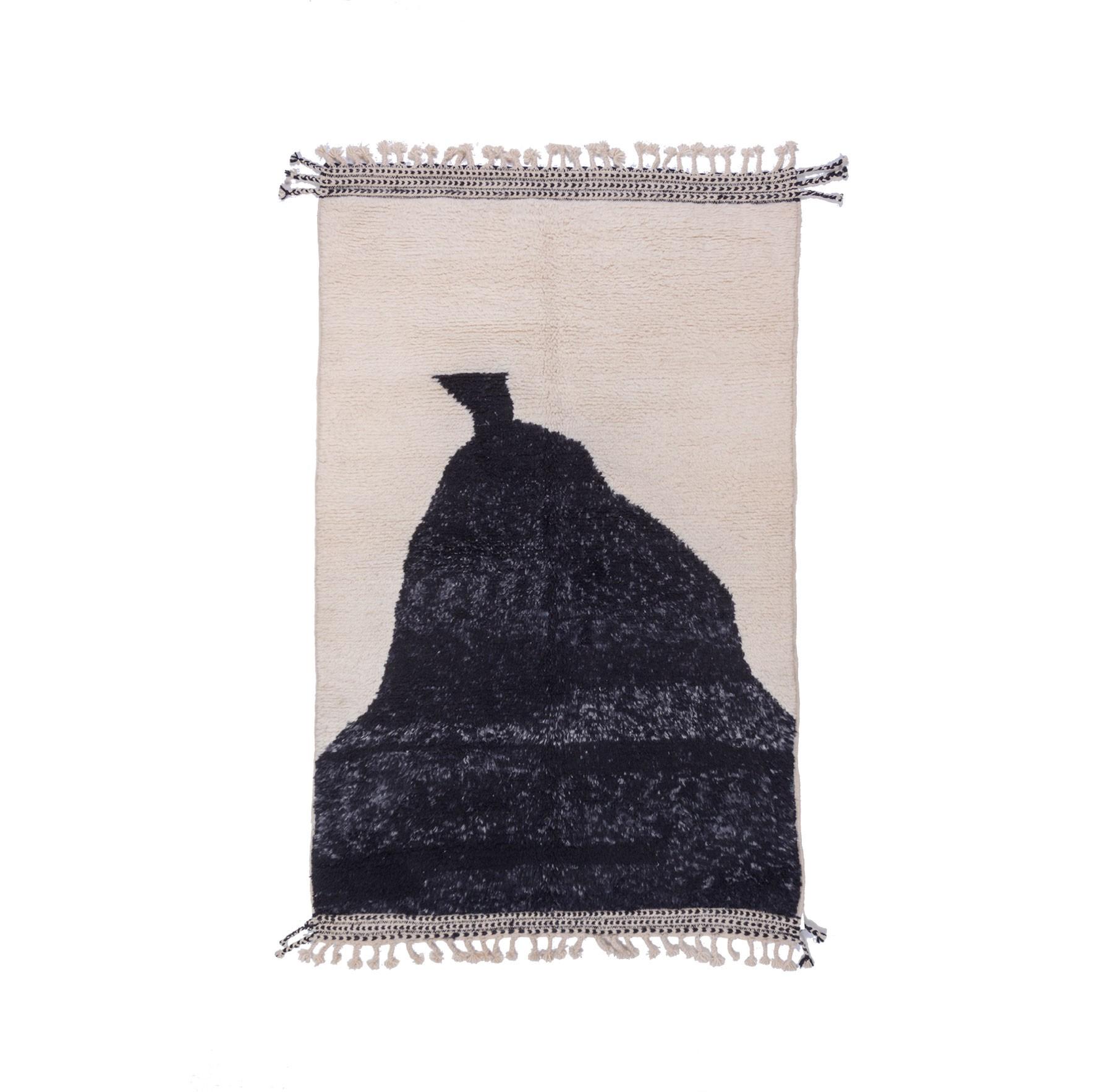 Tapis Beni Ouarain Bonnet gris chiné