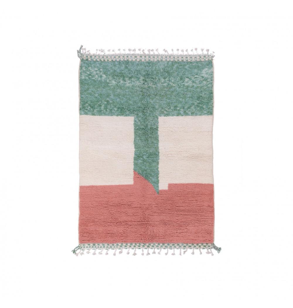 Carpet Beni Ouarain Flag green red white