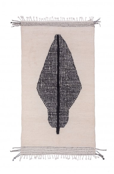 Tapi Beni Ouarain Black / White abstract grid pattern