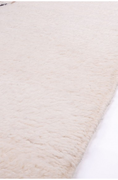 Carpet Beni Ouarain tricolor White, Black Beige