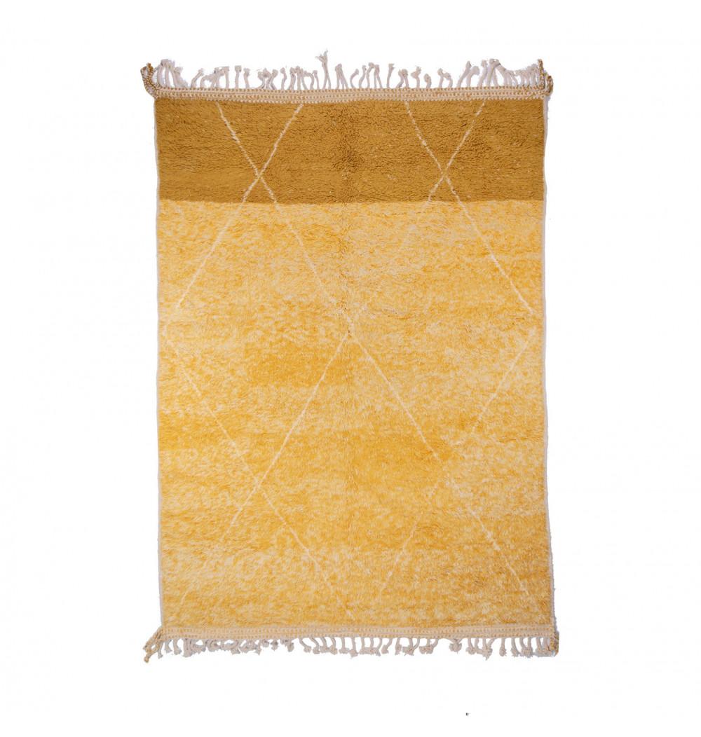 Tapis Beni Ouarain trois couleurs blanc, beige, marron