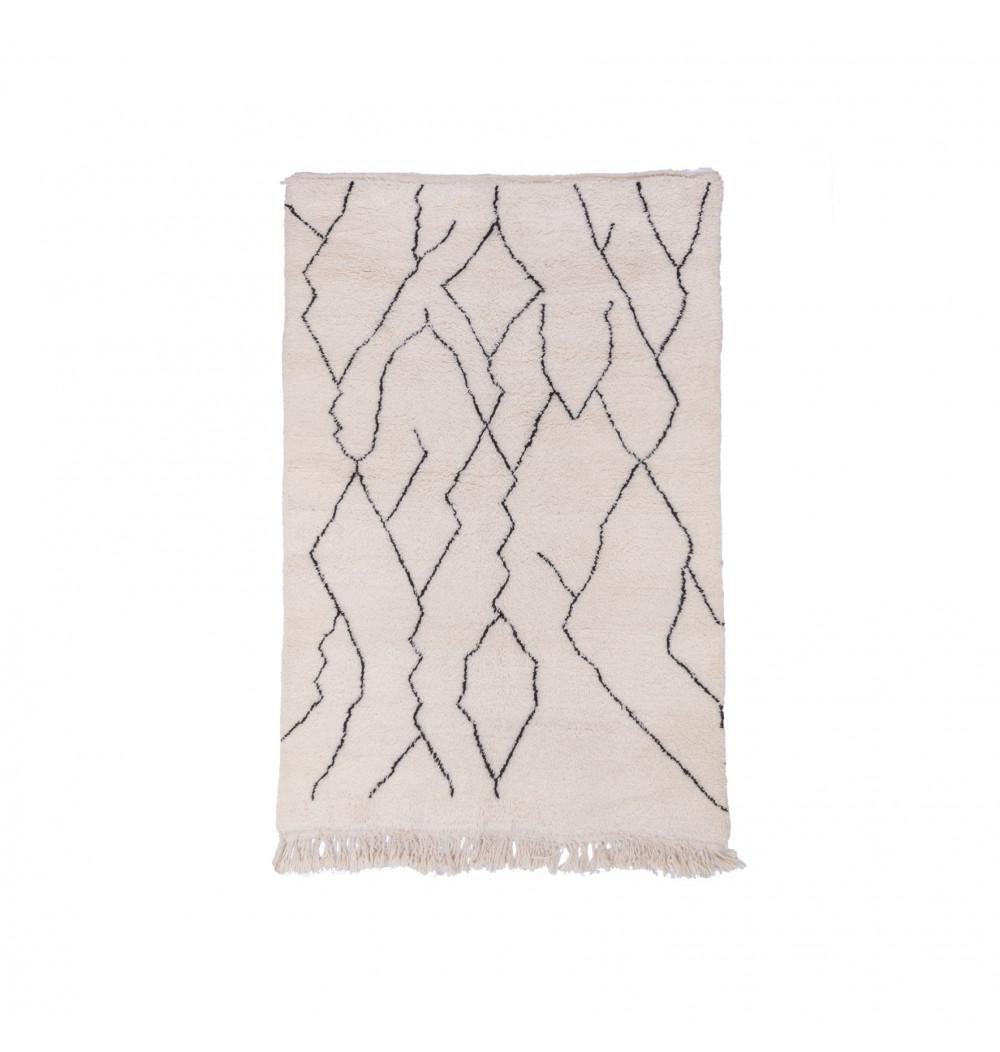 Beni Ouarain carpet Black electricity patterns