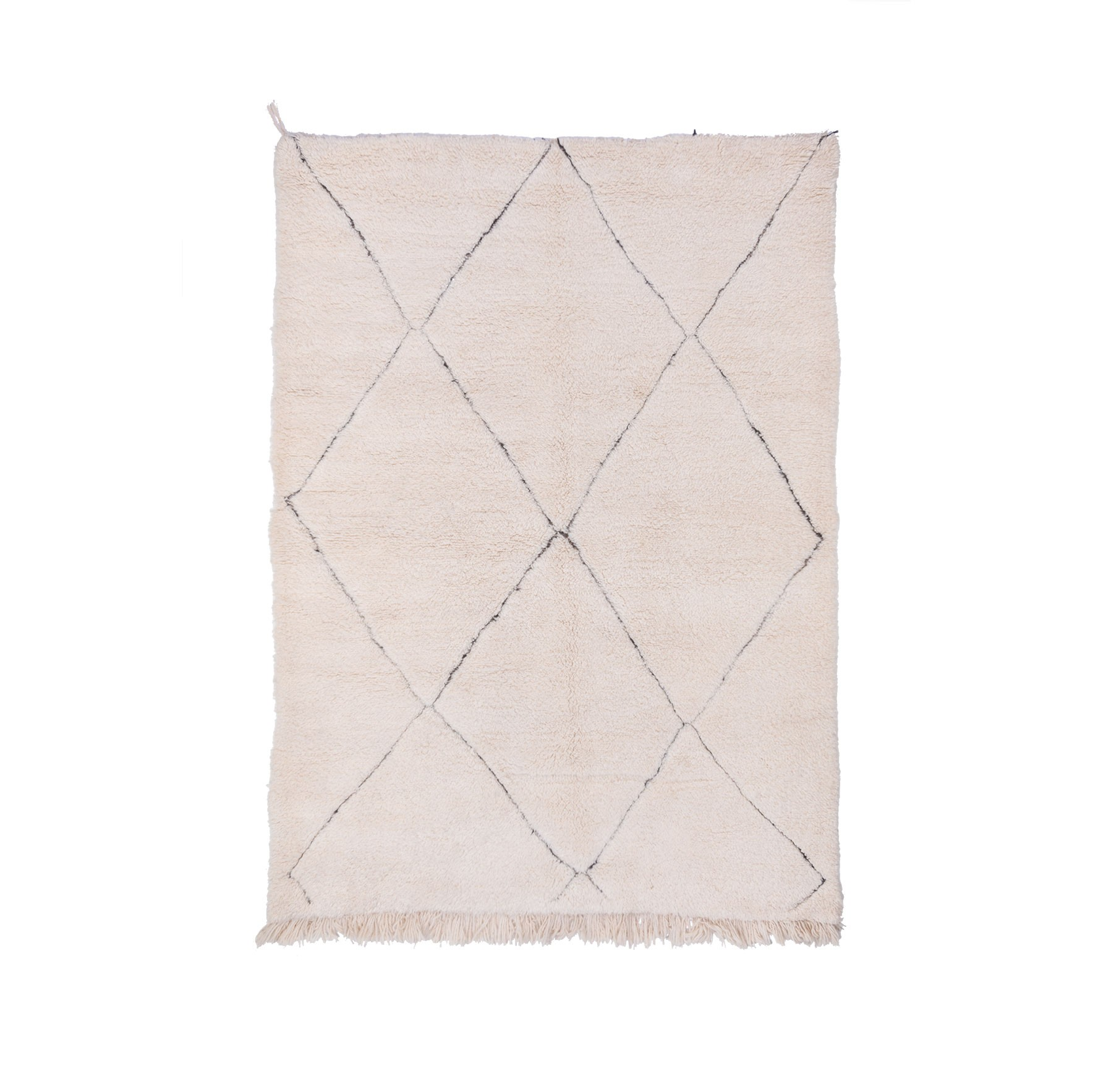 Beni Ouarain rug 4 diamonds gray outline