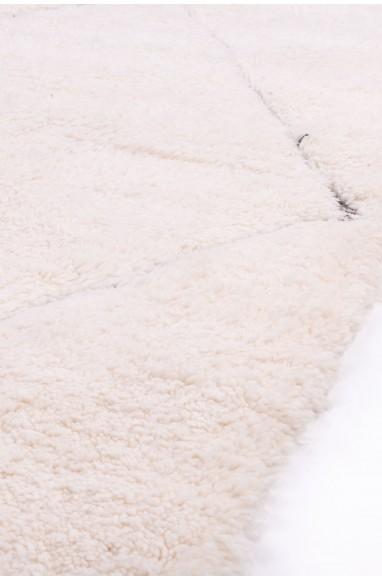 Beni Ouarain rug 4 diamonds gray outline