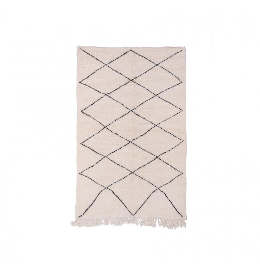 Beni Ouarain square diamond rug