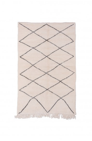 Beni Ouarain square diamond rug