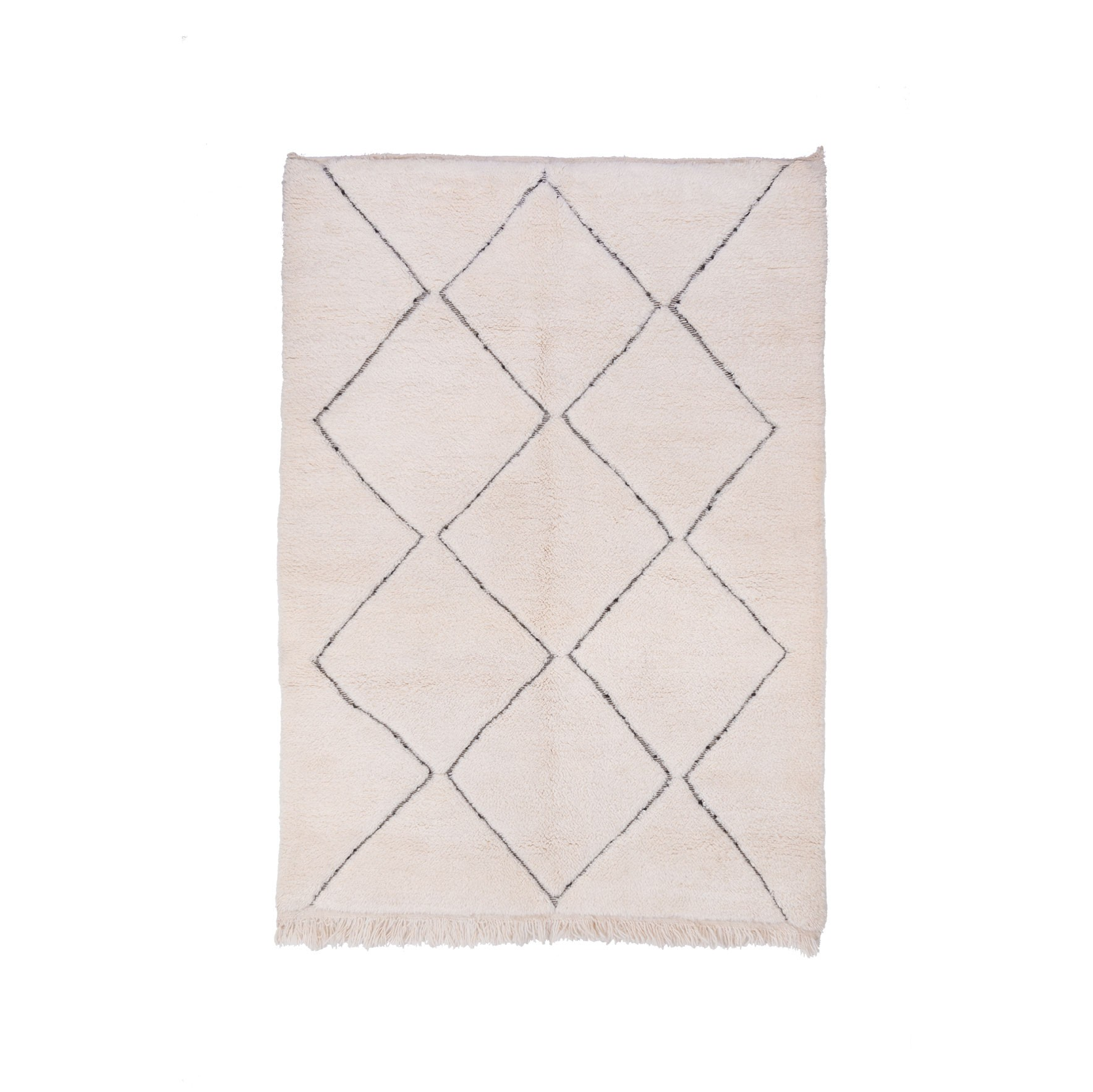 Unclosed Beni Ouarain diamond rug