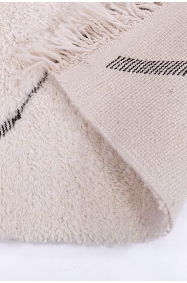 Unclosed Beni Ouarain diamond rug