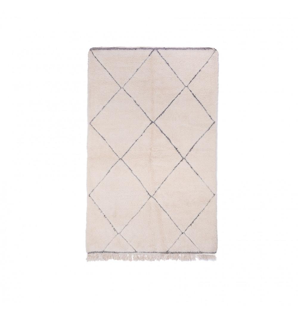 Beni Ouarain carpet 6 complete diamonds gray outline