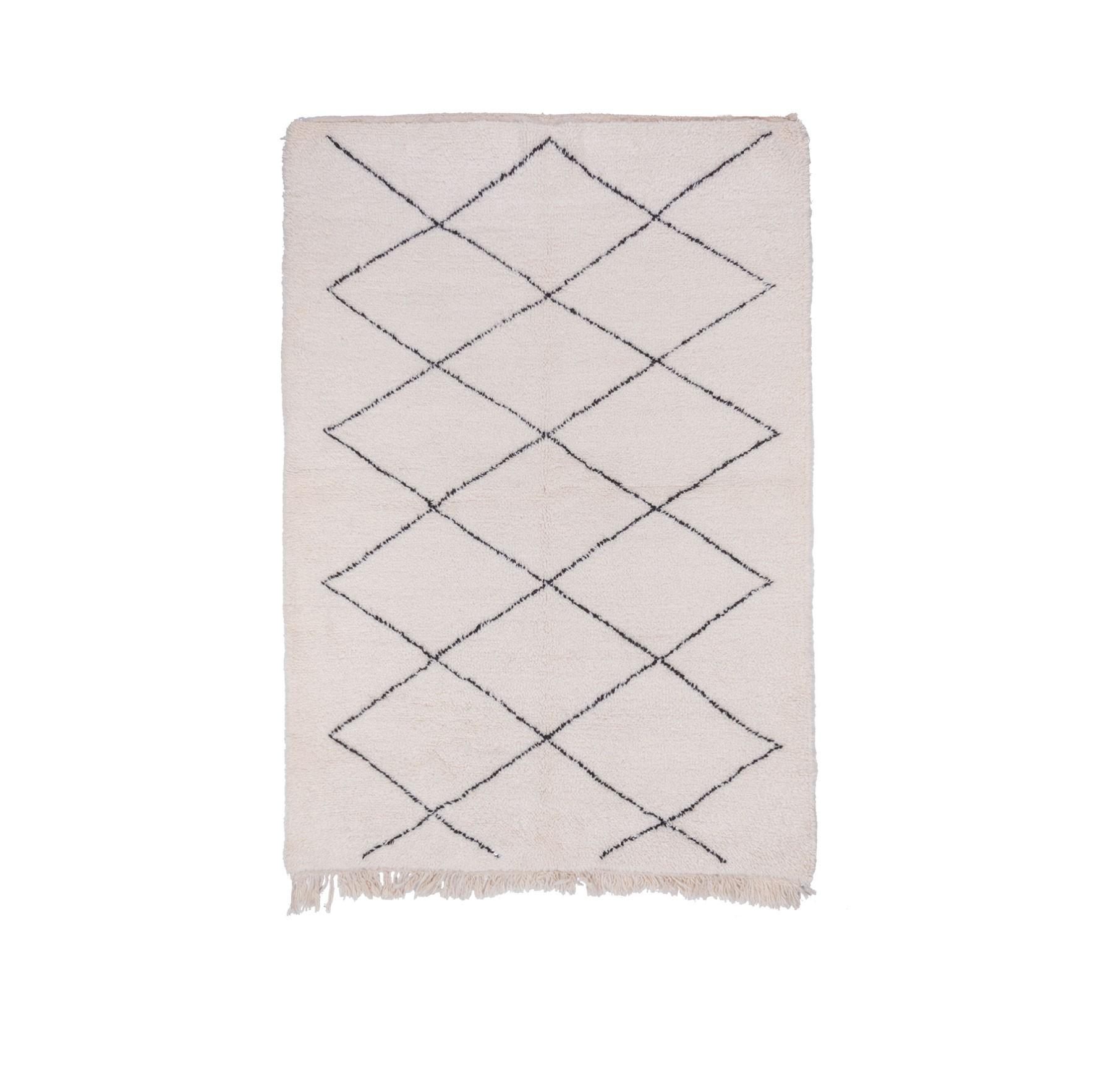 Tapis Beni Ouarain carrés de 13 losanges