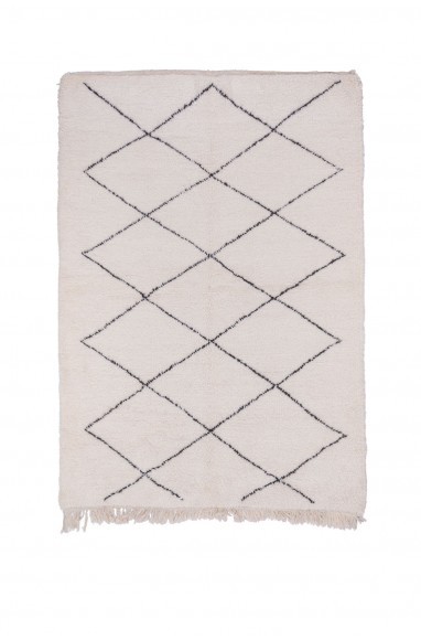Beni Ouarain square carpet of 13 diamonds