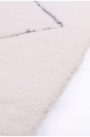 Beni Ouarain carpet 9 complete diamonds wide outline gray / black