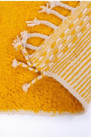 Tapis Beni Ouarain fond jaune