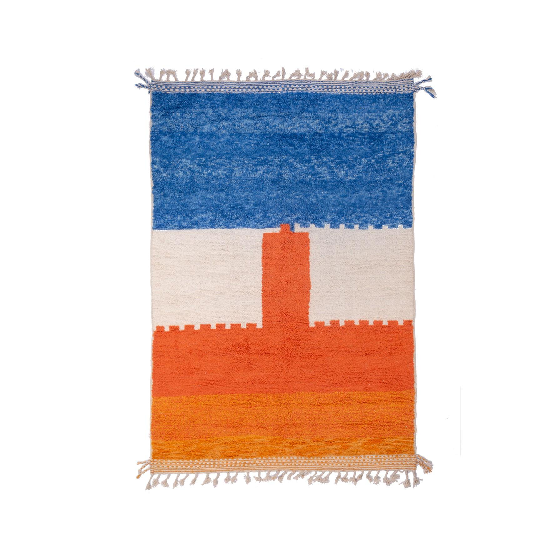 Beni Ouarain carpet 3 tones in shades