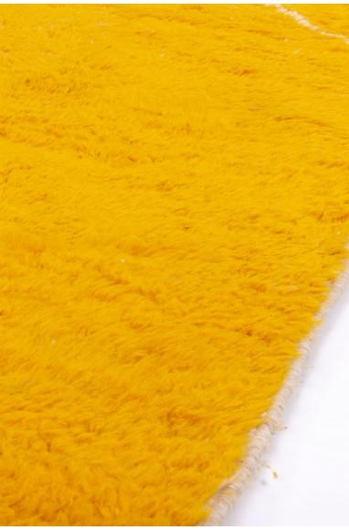 Tapis Beni Ouarain jaune, beige, blanc