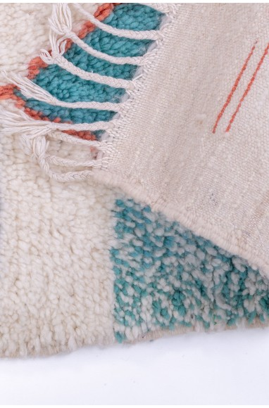 Azilal carpet white red and blue
